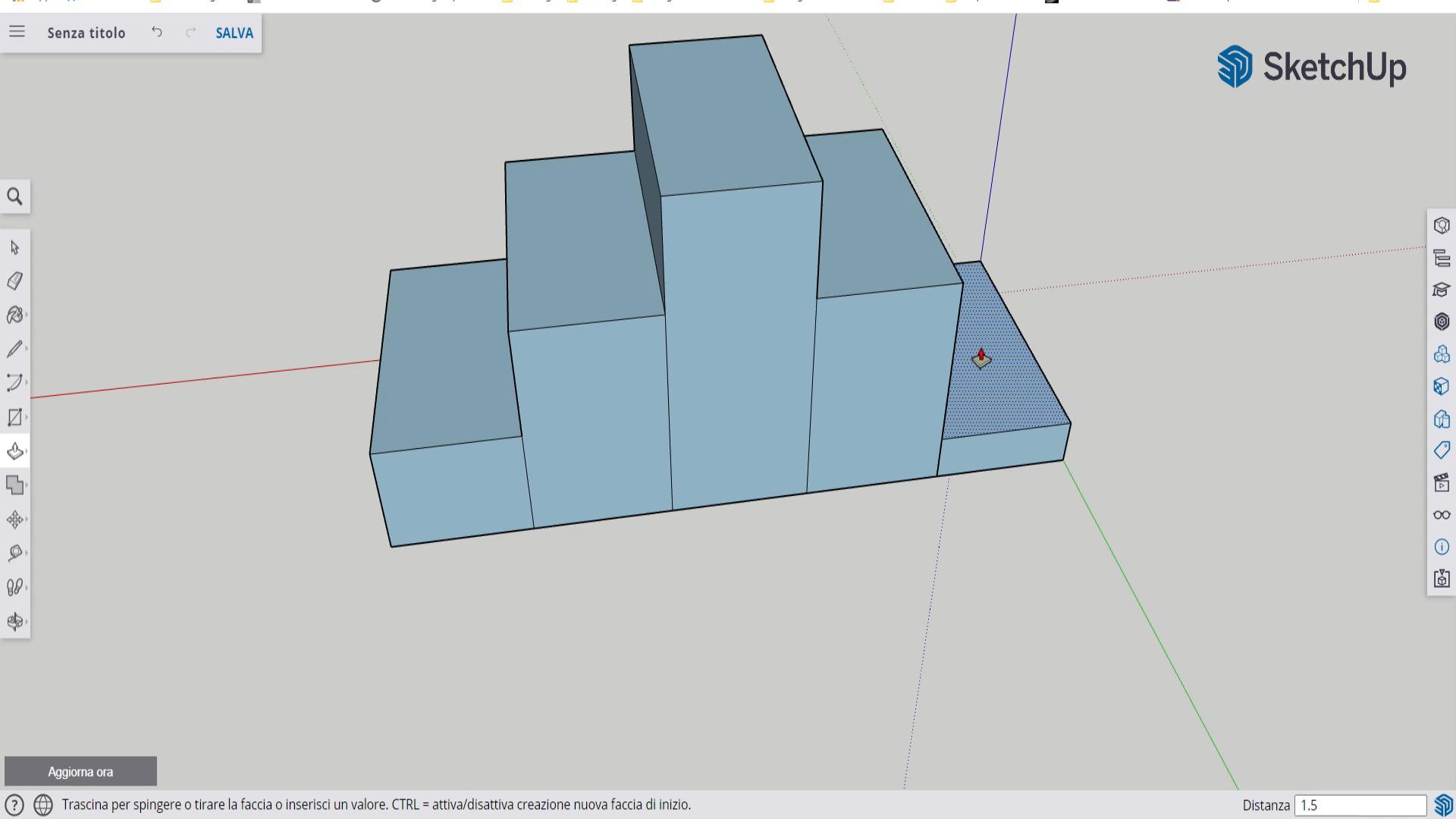 Realizzazione Di Un Podio 3D Utilizzando Sketchup