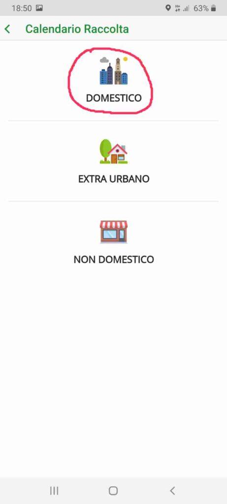 Screen dell'app DifferenziaMOci
